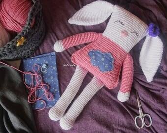 Handmade crochet Bunny. Amigurumi