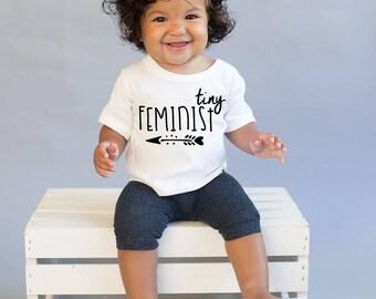 Feminist Shirt - Girl Power Shirt - Womens Rights - Baby Feminist - Girl Warrior -  Inspirational Quote Shirt  - New Baby Gift