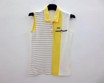 Fila Shirt Vintage Fila Top Fila Vintage Sleeveless Tennis Shirt Women Size S