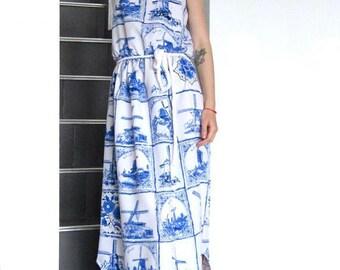 NEW Maxi Dress With Prints / Romantic Dress / Summer Maxi Dress / Wholesale Dress