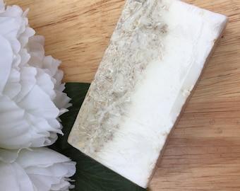 Cocoa Butter and Oatmeal Soap - Vegetarian, Vegan Soap, Cruelty Free, Handmade Soap, Sensitive Skin
