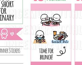 Munchkins - Breakfast or Brunch Date Planner Stickers (M269)