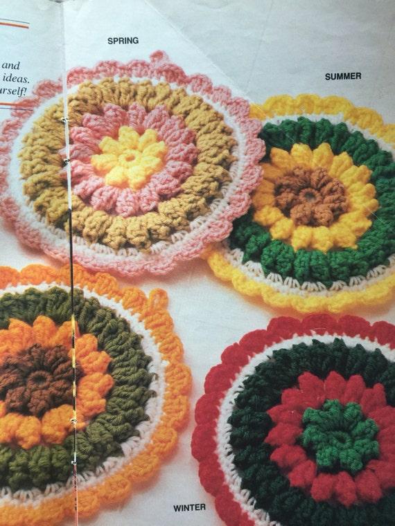 Pdf download vintage crochet potholders, 4 season patterns only