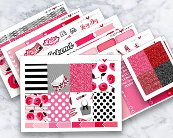 Pretty in Pink | ECLP | Happy Planner Classic | Weekly Kit | Planner Stickers