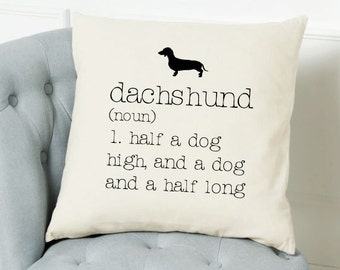 Dachshund Dictionary Cushion Cover