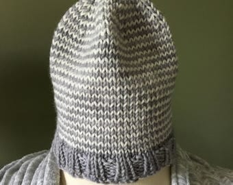 Hand-knitted baby beanie/Helix beanie/baby's hats/beanies/washable wool/lightweight/hats/beanies/handmade