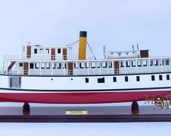 "Calista Steamship - Wooden Steamship Model 28"""