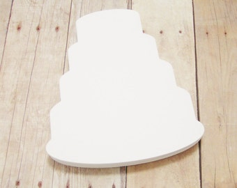 Cake Cutouts-Paper Wedding Cake-Advice Cards-Bridal Shower Decorations-DIY Wedding Decor-Scrapbooking Cutouts-Wedding Well Wishes-White Cake