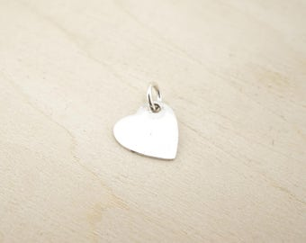 Sterling Silver Heart Blank - Sterling Silver Heart Charm - Sterling Silver Stamping Disc - Sterling Silver Stamping Blanks