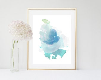 Blue Watercolor, Art Print, Abstract Art, Printable Art, Blue Wall Art, Home Deocr, Wall Decor, Gallery Wall Prints, Abstract Watercolor
