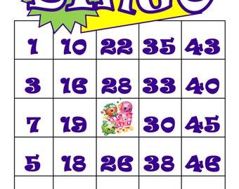 Shopkins inspired Bingo Cards- Set of 30 cards