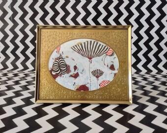 Embossed Emotions~Gold Frame~Gold Embossed Oval Matting~Vintage Metal Frame~5x7~B4