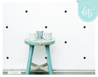 Polka Dots Circles 2.5CM Wall Decal Vinyl Sticker Round Confetti Spots _ 1 Inch _ For Nursery OR Kids Room_ID#1303