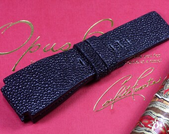 Black stingray strap + No stitching for Bell&Ross #CD0328