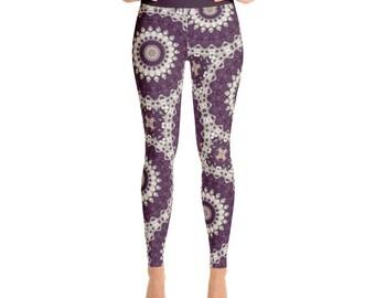 Mid Rise Womens Yoga Leggings - Mandala Yoga Pants, Printed Leggings Pants, Patterned Leggings Soft, Fashion Tights