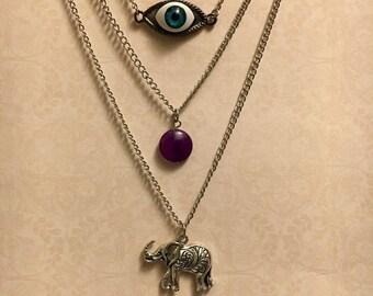 Three Tier Necklace Etsy