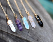 Wire Wrap Crystal Necklace - Crystal Necklace - Healing Crystal Necklace - Healing Crystals and Stones - Crystals - Crystal Jewelry