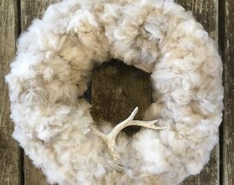 Organic raw alpaca wreath