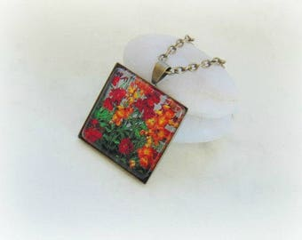 Flower pendant, flower jewelry, photo pendant, floral pendant, picture jewelry, nature, botanical, pendant, necklace, jewelry, spring,summer