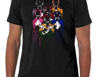 Power Rangers Rhapsody T-Shirt Mens Black T-Shirt
