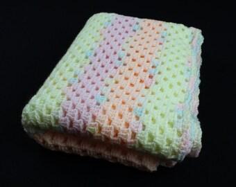 Crochet Baby Blanket, Granny square, Baby Girl Blanket, Baby Blanket Handmade, Baby Shower Gift