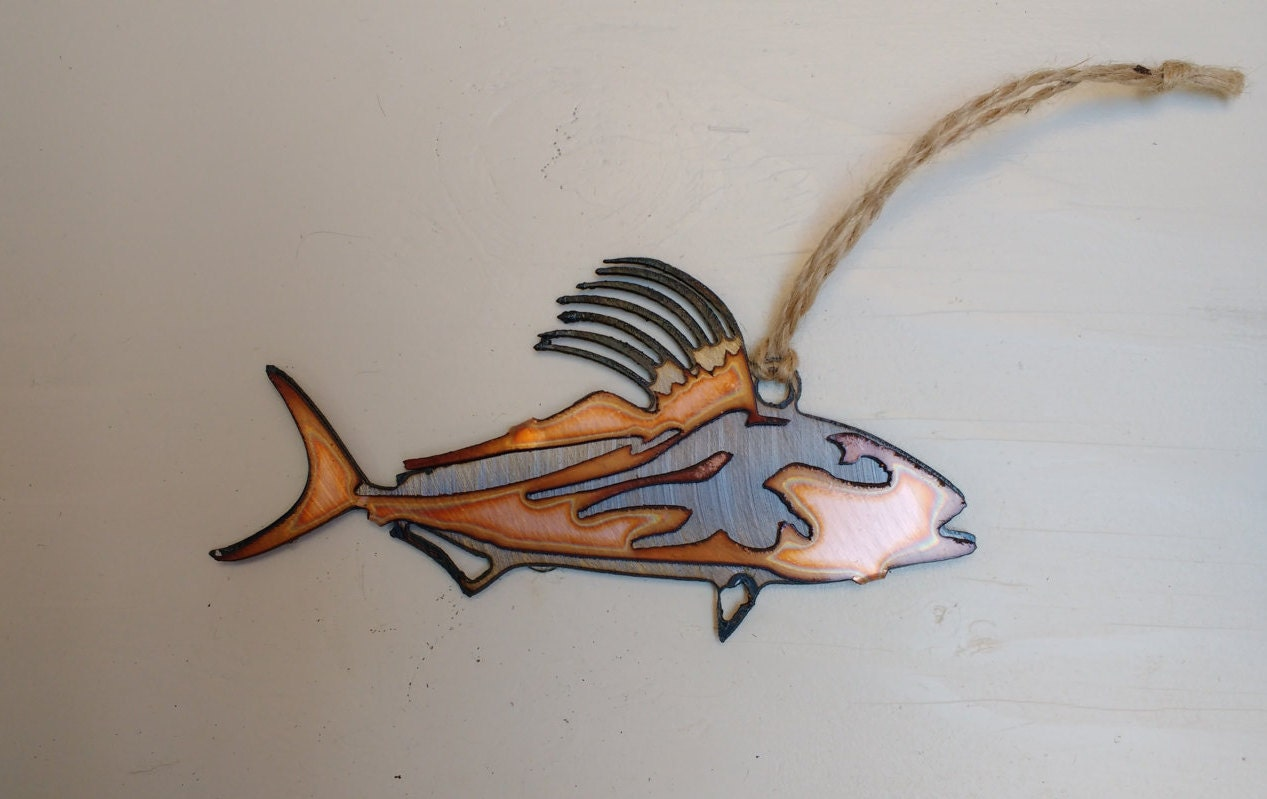 Rooster fish steel and copper for Rooster fish pictures