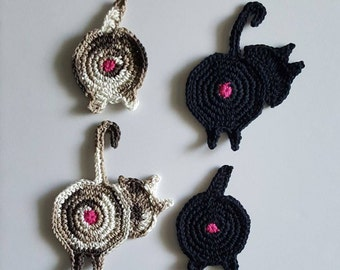 Kitty Butt Coasters Set of 4
