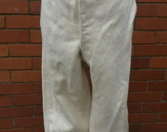 Vintage Blanket Trousers Mens Vintage Cream Flannels Thick Wool Trousers Vintage Trousers Mens Trousers Large Size Fearnought Trousers