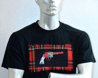 Rebel Revolver - Scottish Flag - Custom t-shirt - alternative apparel - punk - tartan