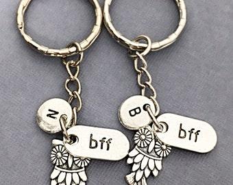 Best Friend Keychains - set of 2, bff charm, always bff keychain, always charm, friendship jewelry, gift for best friend,best friend, always