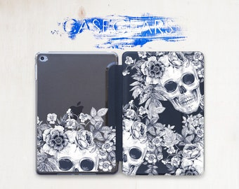 Skull Flower Case iPad 10.5 Case iPad 3 Case iPad 2 Case iPad 1 Case iPad Air 2 Case iPad Mini Case iPad Air 2 Smart Cover iPad Mini CGSC025