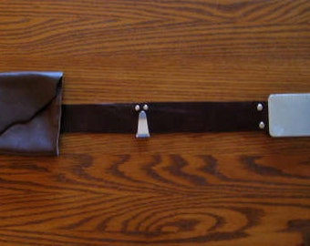 Star Wars Jedi Inspired Leather Belt with Lightsaber Clip