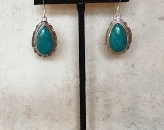 Kingman Turquoise Earrings Design 14