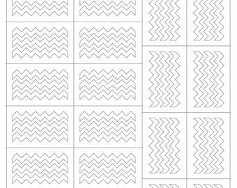 LipSense Stencils, Chevron Stripes, Stripes 2.0
