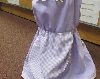 Handmade lilac girls dress aged 3 - 4 years.