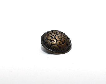 Vintage brass Metal buttons , Set of 8 pcs with shanks , buttons for sewing , blazer buttons , jacket buttons , coat buttons