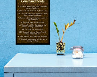 The Coffee Commandments - 11x17 Poster