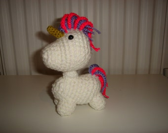 Unicorn, Crochet Unicorn, Amigurumi Unicorn, Handmade Unicorn, Soft Toy, Gift, Stuffed Unicorn
