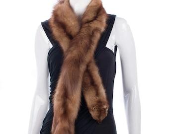 Vintage Maxwell Croft shaped mink collar