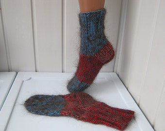 Knitted socks, knitted socks, colorful socks, Christmas gifts, socks, Baby socks, ready to be sent.
