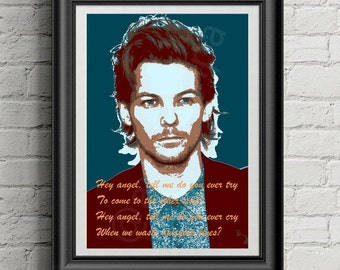 Louis Tomlinson Printable Art with signature and  quote from One Direction