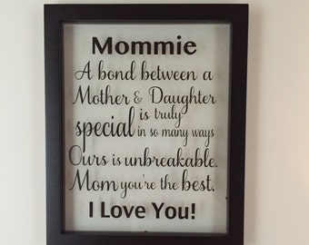 Personalized Frame, Personalized Frame Wedding, Mother of the Bride, Mothers day, Mothers day gift, mother's day, mother gift, gift for mom