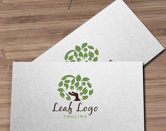 Tree Logo, Leaf Logo, Organic Logo, Green Logo, Wellness Logo, Health Food, Leaves Logo, Nature Logo, Gardening, Photographer