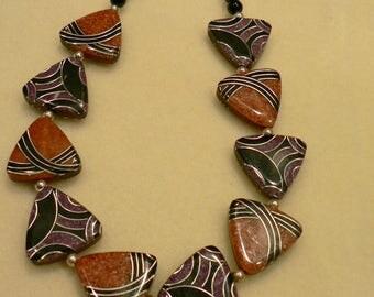 Black/Brown Contemporary Necklace