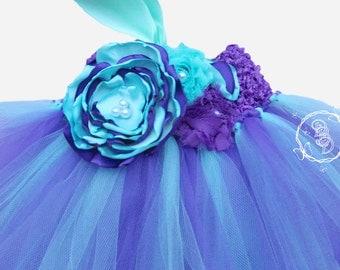 Aqua and Purple Tutu Dress