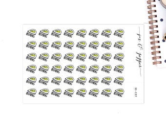 Ironing Planner Stickers || 48 stickers [S1-137]