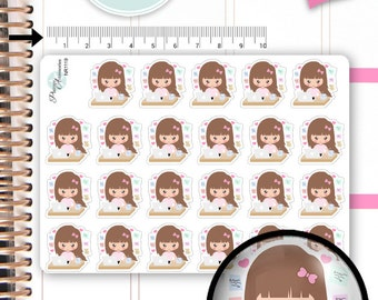 Work Stickers Working Stickers Computer Stickers Girl Stickers Custom Stickers Planner Stickers Cute Stickers Functional Stickers NR1119