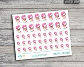 Pink Unicorn Series: Groceries/Shopping - Planner Icon Stickers (Glossy & Matte)
