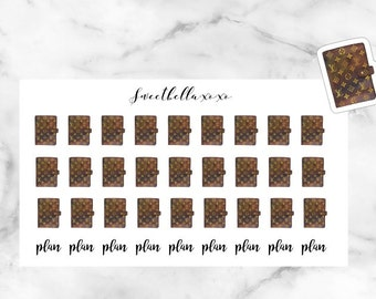 27 Planner Stickers / Plan With Me Stickers / louis vuitton planner stickers / ECLP