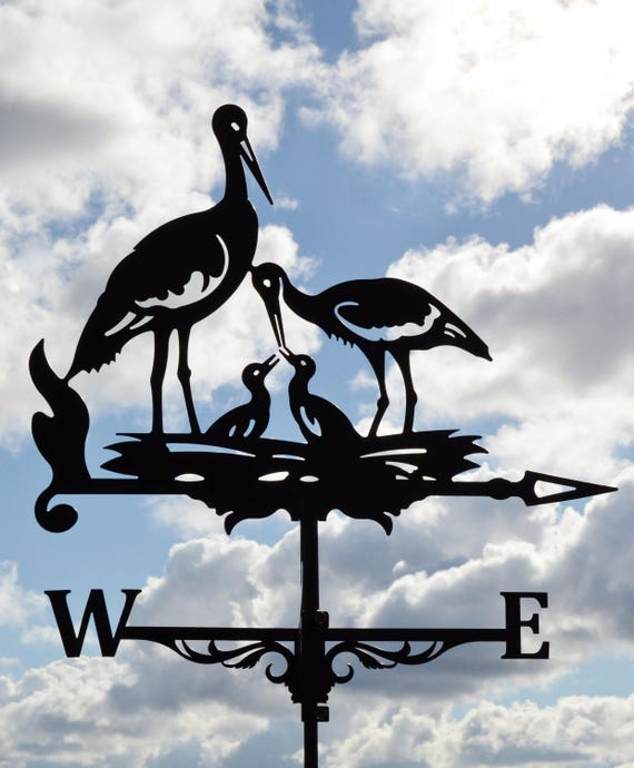 stork metal weathervane roof mount weather vane birds stork. Black Bedroom Furniture Sets. Home Design Ideas
